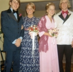 1971 - Sue Shadek & Holly Goodfellow with their prom dates (dates were from class of '70?)